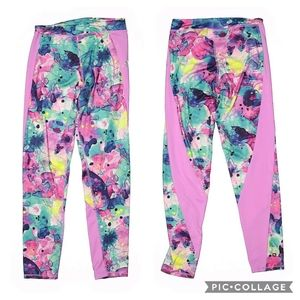 💜Girls Adidas Watercolor Printed Leggings